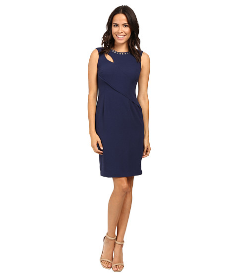 Adrianna Papell Cut Out Sheath Dress with Hardware
