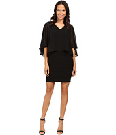 Adrianna Papell - Lined Banded Matte Jersey Sheath Dress