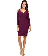 Adrianna Papell - Partially Lined Matte Jersey Banded Sheath Dress