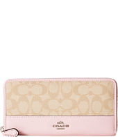 COACH - Signature Color Block Accordian Zip Wallet