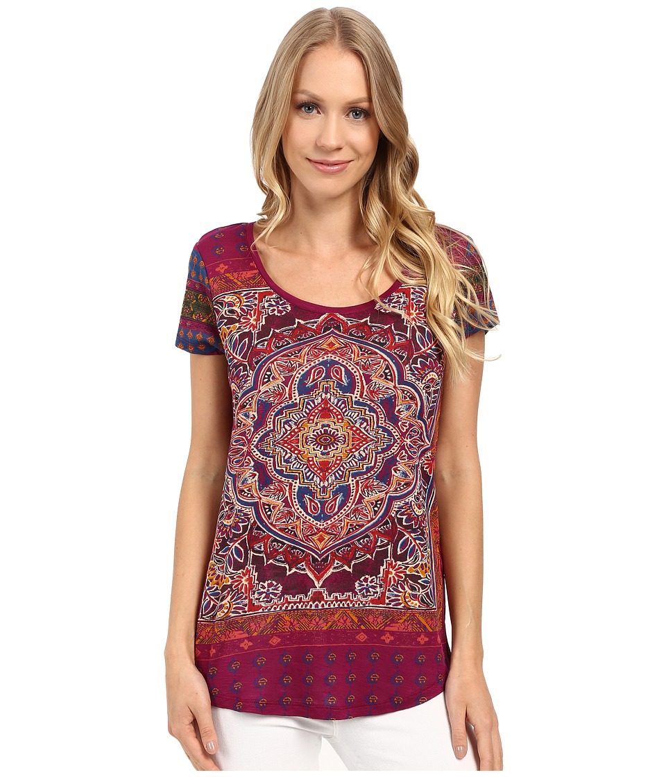 Lucky Brand - Persian Carpet Tee (Purple Potion) Women
