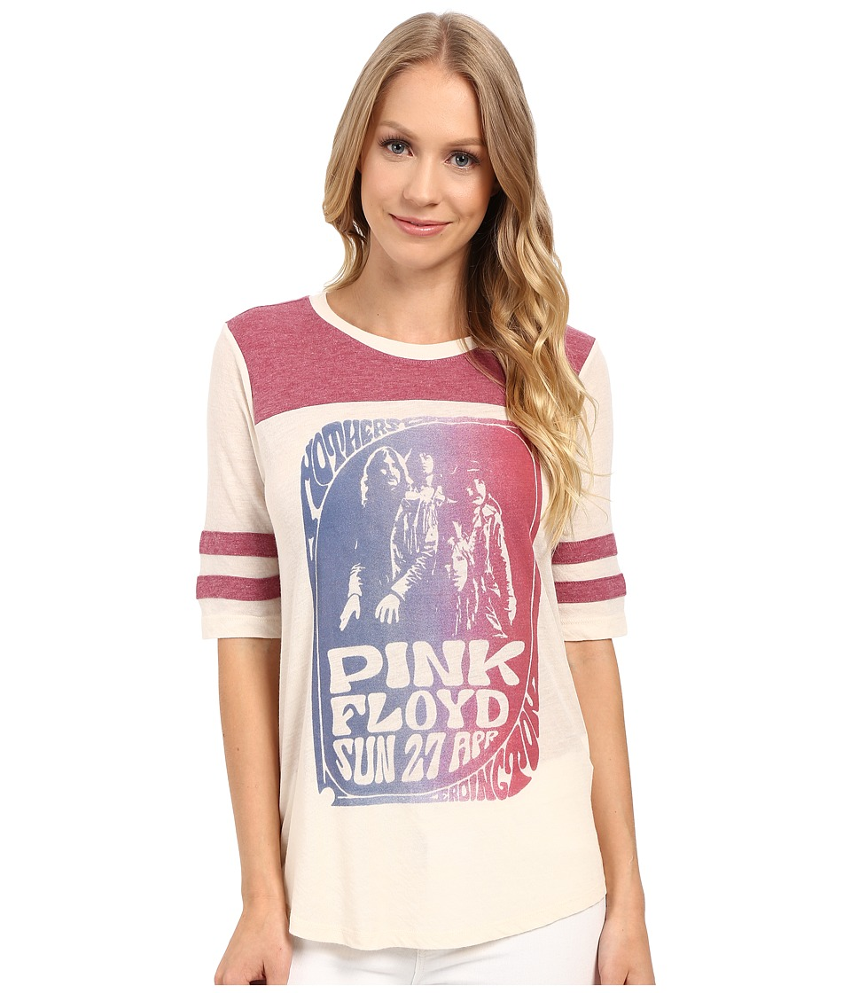 Lucky Brand - Pink Floyd Football Tee (Nigori) Women