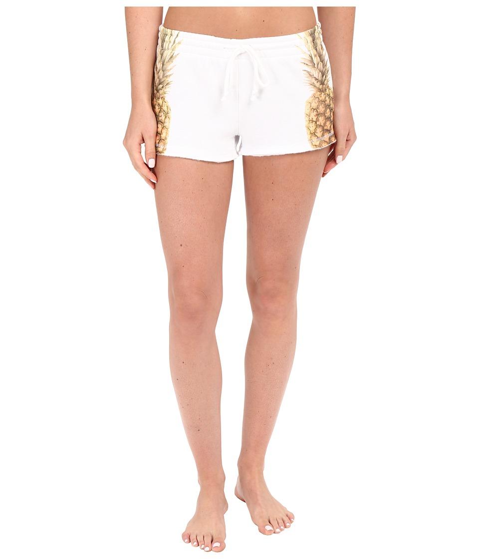 P.J. Salvage Pineapple Shorts White Womens Pajama