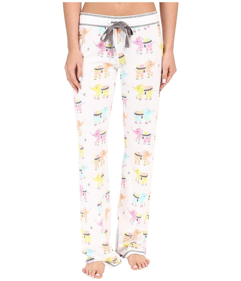 P.J. Salvage Elephant PJ Sleep Pants Ivory Womens Pajama