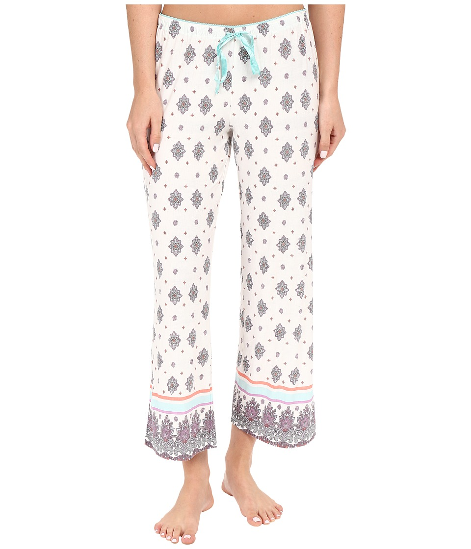 P.J. Salvage Blue Medallion Cropped Pants Natural Womens Pajama