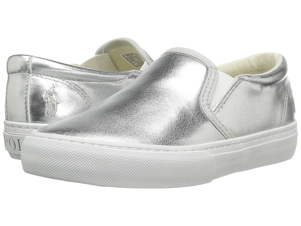 Polo Ralph Lauren Kids - Carlee Twin Gore (Little Kid/Big Kid) (Silver Metallic) Girls Shoes