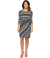 Tahari by ASL Petite - Petite Textured Jersey Side Rouch Dress