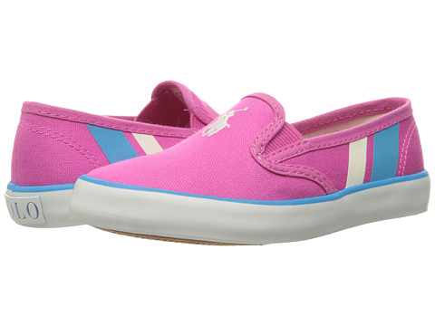 Polo Ralph Lauren Kids Piper (Little Kid) - Fuchsia Canvas/White Pony Player/Teal