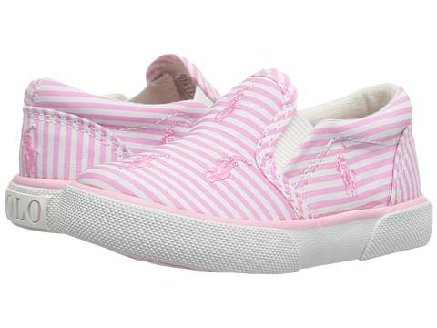 Polo Ralph Lauren Kids Bal Harbour Repeat (Toddler) - Pink Stripe Poplin/Pink Pony Player