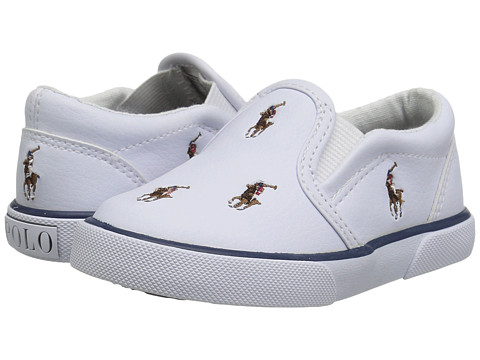 Polo Ralph Lauren Kids Bal Harbour Repeat (Toddler) - White Tumbled/Multi Pony Player