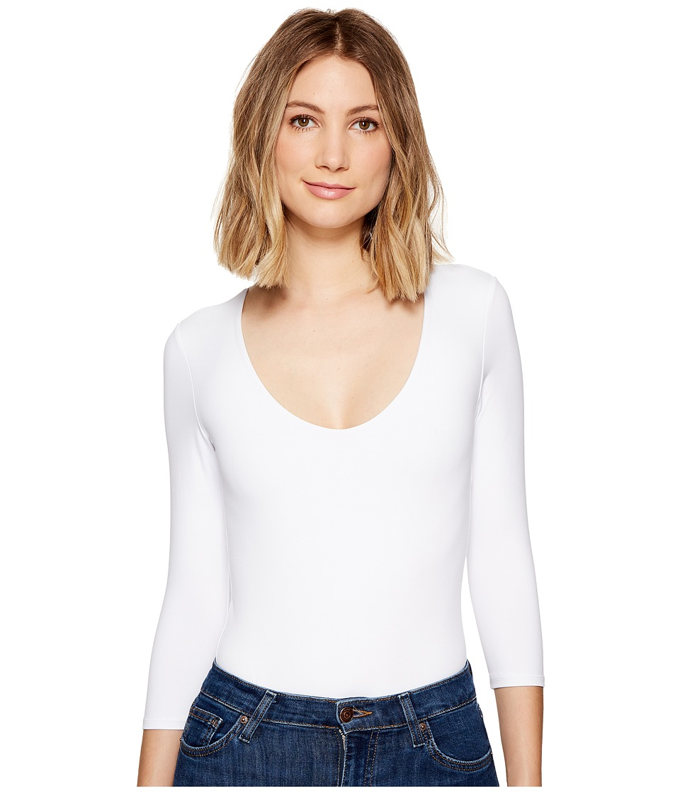 Only Hearts Delicious 3/4 Sleeve V-Neck Bodysuit (White) ...