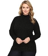 Calvin Klein Plus - Plus Size Turtleneck w/ Fleck Detail