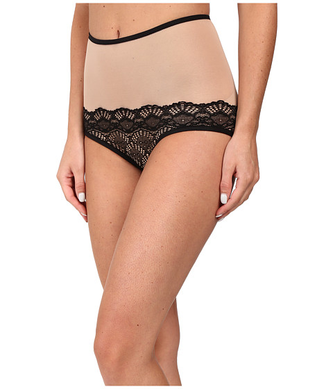 Only Hearts Whisper Sweet Nothings High Waist Brief - Nude/Black
