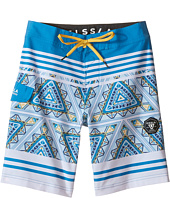 VISSLA Kids - Sinner Point Washed 4-Way Stretch Boardshorts 17