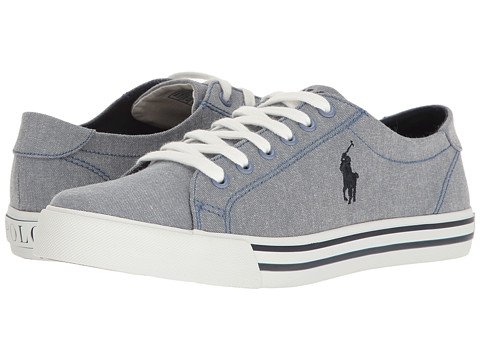 Polo Ralph Lauren Kids Slater (Big Kid) - Blue Chambray/Navy Pony Player