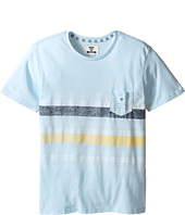 VISSLA Kids - Kookabunga Heatherd 30 Singles Short Sleeve Pocket Crew (Big Kids)