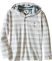 VISSLA Kids - Navigator Heavy Weight Jersey Printed Stripe Hooded Henley (Big Kids)