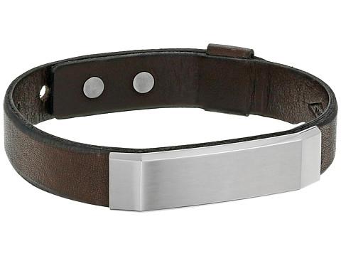 Fossil Steel Bracelet - Silver/Brown