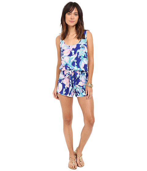 Lilly Pulitzer Rina Romper - Blue Going Coastal
