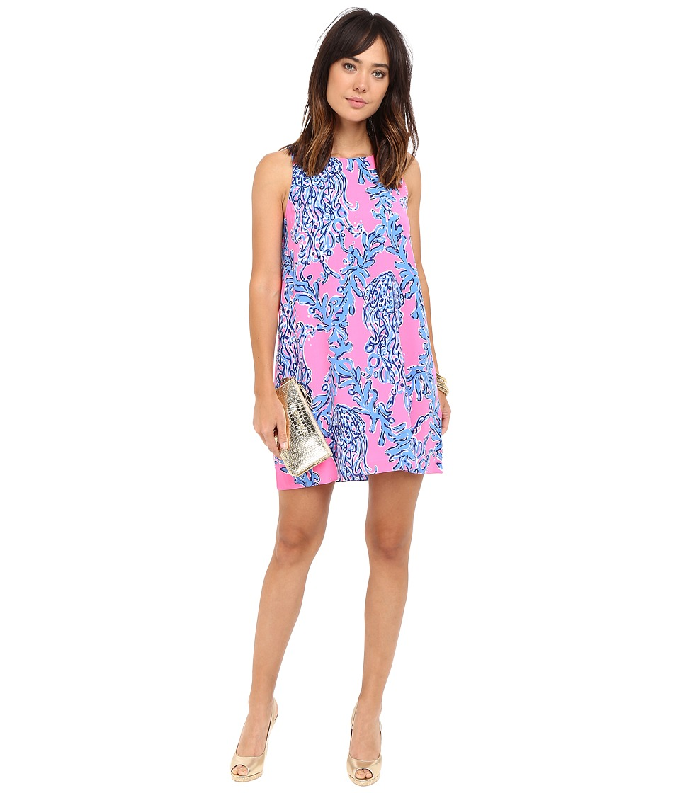 Lilly Pulitzer Jackie Shift Dress (Kir Royal Pink Caught in the Coral) Women
