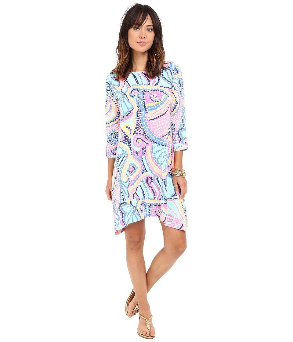 Lilly Pulitzer Edna Dress (Multi Tile Wave) Women
