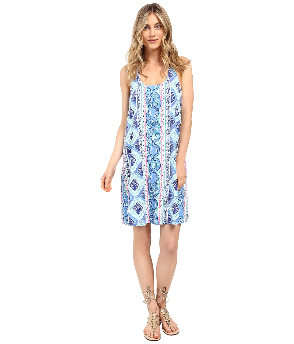 Lilly Pulitzer Lydia Dress (Bay Blue Fine Line Engineer) Women