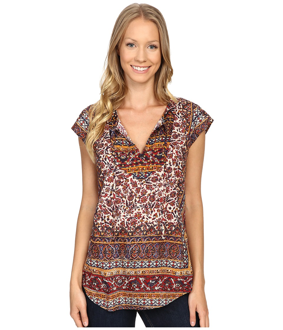 Lucky Brand - Border Print Top (Red Multi) Women