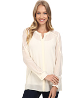 Lucky Brand - Silk Button Down Top