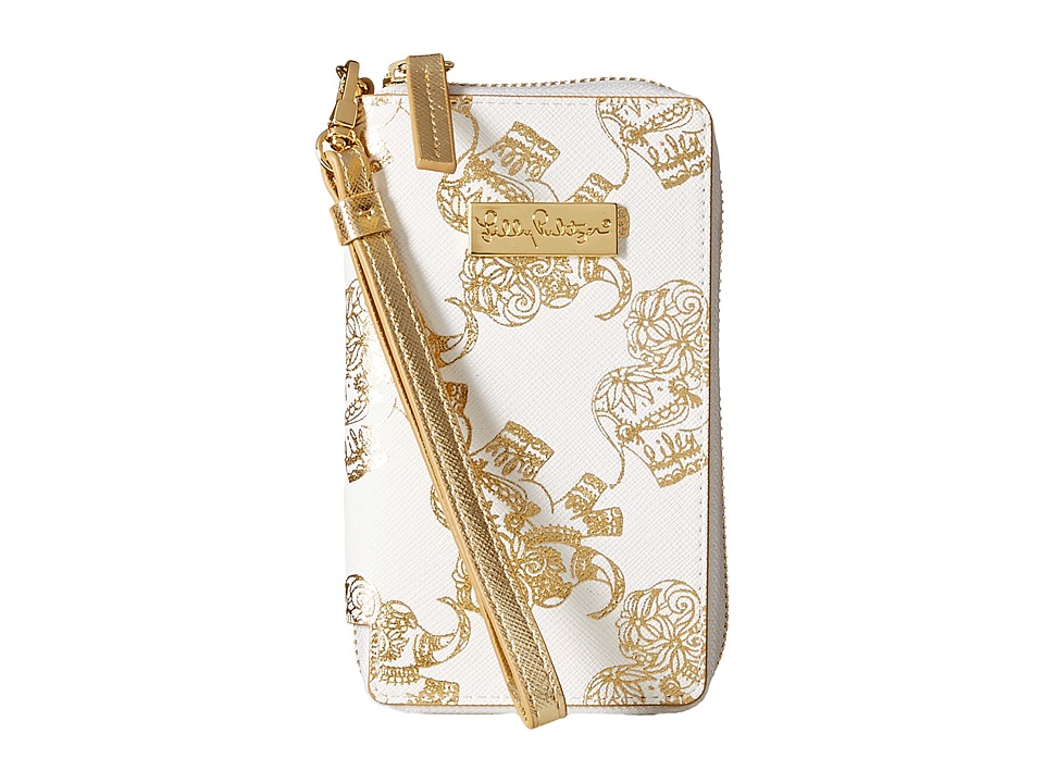 Lilly Pulitzer - Tiki Palm iPhone 6 (Gold Metallic Treasure Trunk) Cell Phone Case