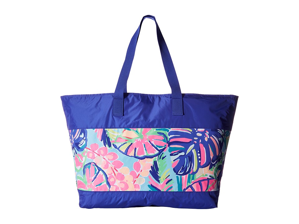Lilly Pulitzer - Sail Away Beach Tote (Multi Exotic Garden) Tote Handbags