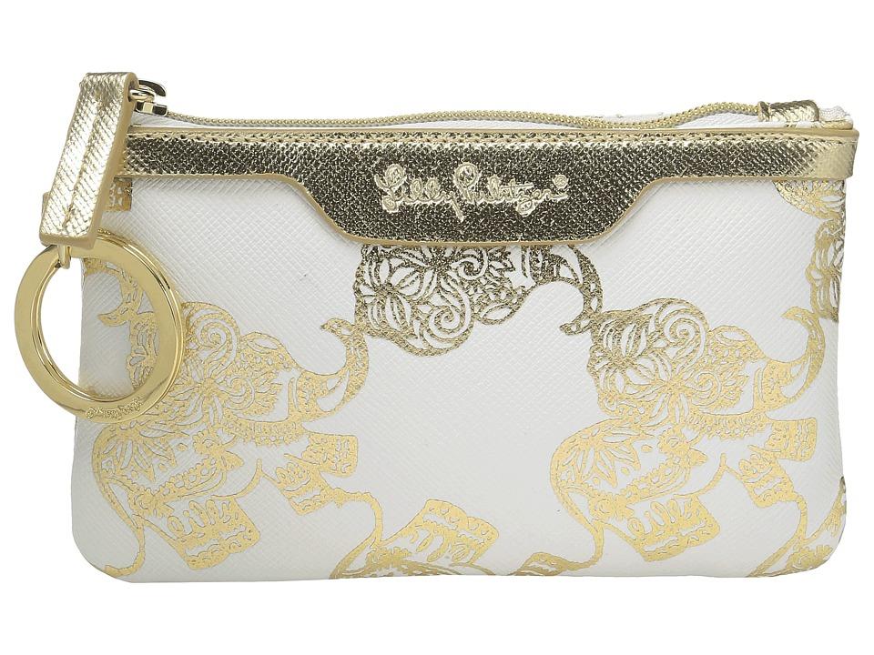 Lilly Pulitzer - Key ID Case (Gold Metallic Treasure Trunk) Wallet