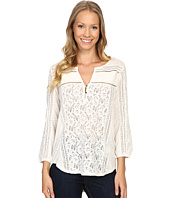 Lucky Brand - Mixed Lace Top