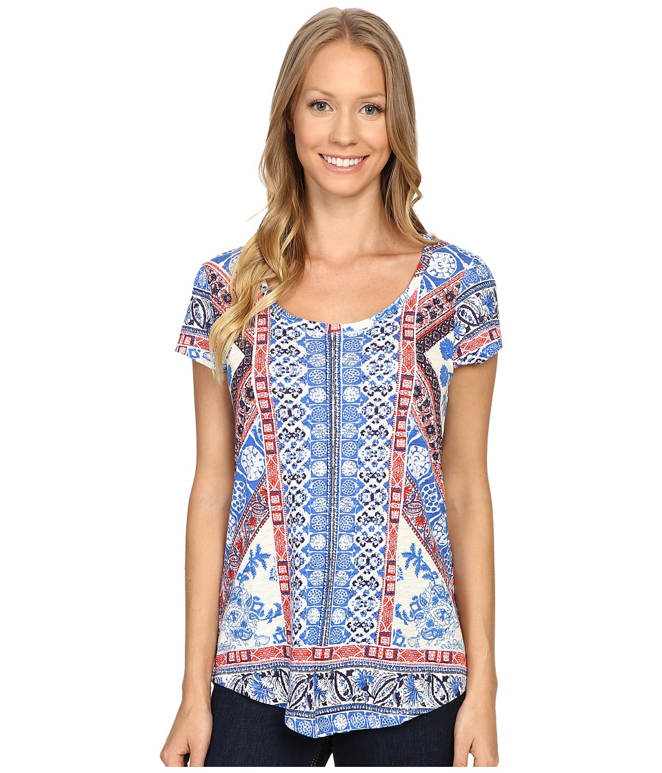 Lucky Brand - Diamond Tile Tee (Bright White) Women