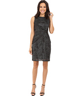 Calvin Klein - Round Neck Sleeveless Side Knot Sheath