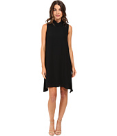Adrianna Papell - Roll Neck Gauzy Crepe Dress