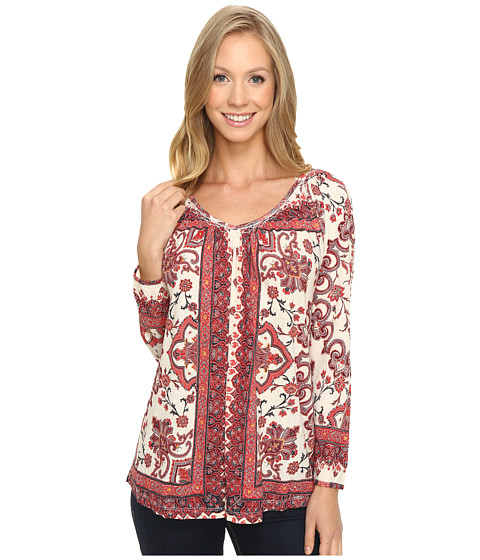 Lucky Brand Placed Print Top - Multi