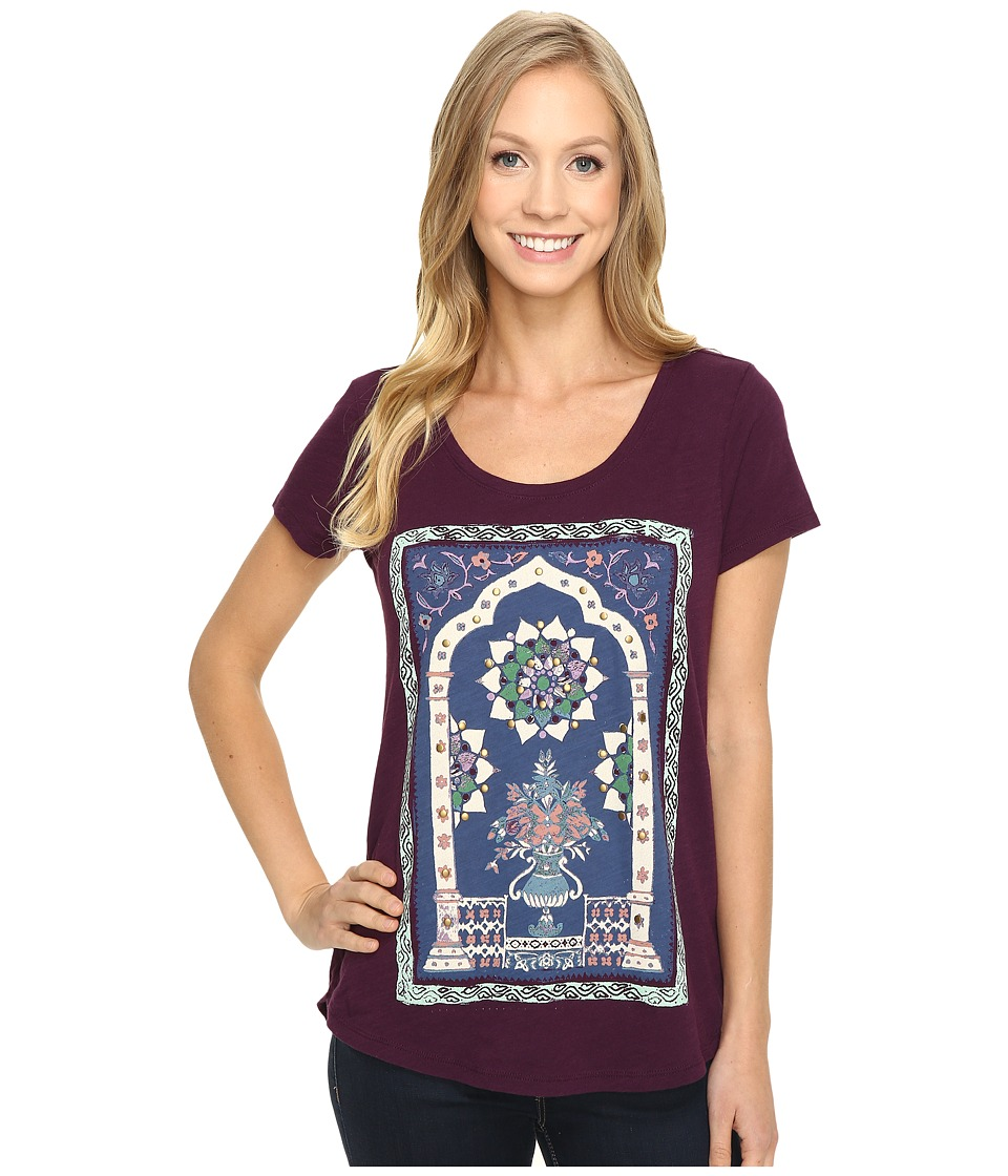 Lucky Brand - Masaleum Tee (Potent Purple) Women