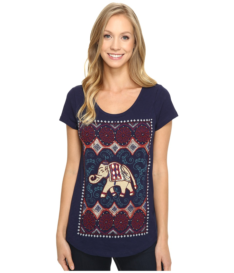 Lucky Brand - Dotted Elephant Tee (Astral Aura) Women