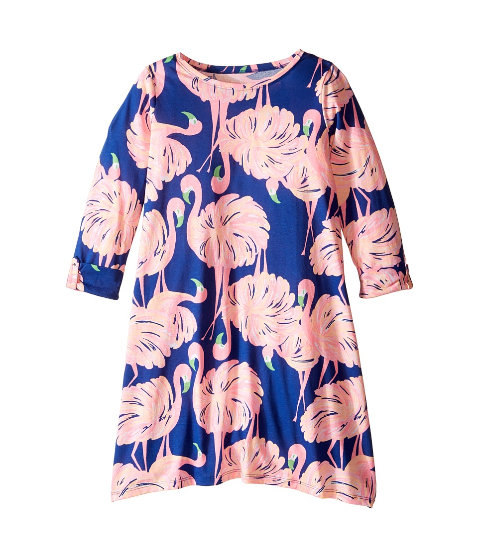 Lilly Pulitzer Kids Mini Edna Dress (Toddler/Little Kids/Big Kids) (Resort Navy Gimme Some Leg) Girl
