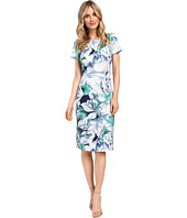 Adrianna Papell - Picasso Floral Printed Fitted Sheath Dress