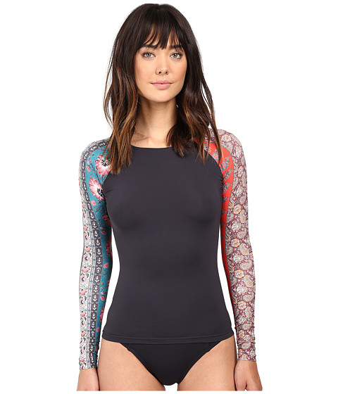 Billabong - Moon Dance Long Sleeve Rashguard (Black Sands) Women's Swimwear