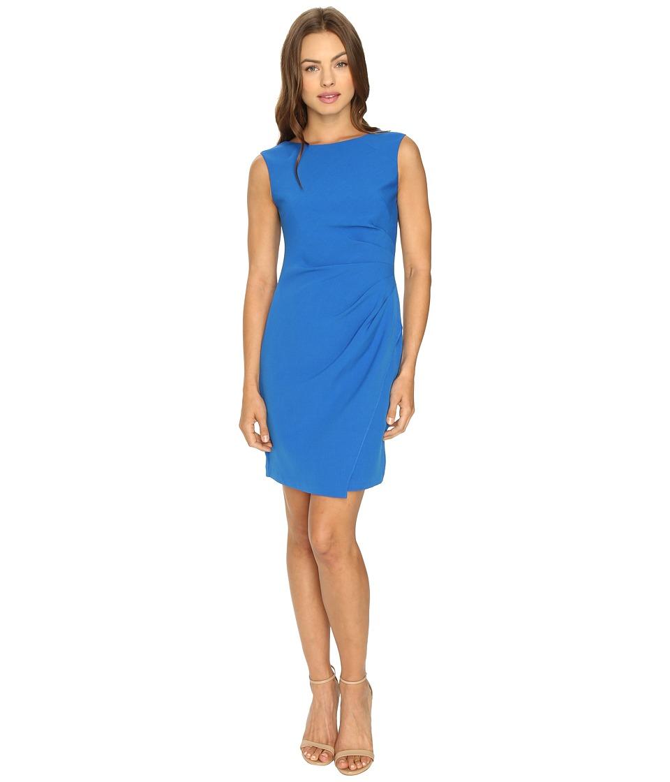Adrianna Papell - Scissor Hem Side Drape Dress
