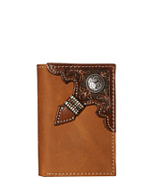 Ariat - Embossed with Concho Trifold Wallet