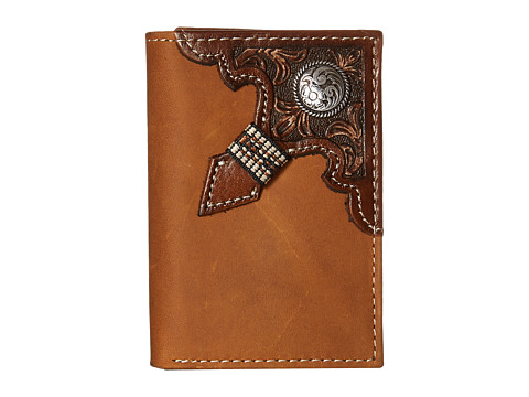 Ariat Embossed with Concho Trifold Wallet