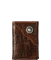 Ariat - Floral Embossed Trifold Wallet