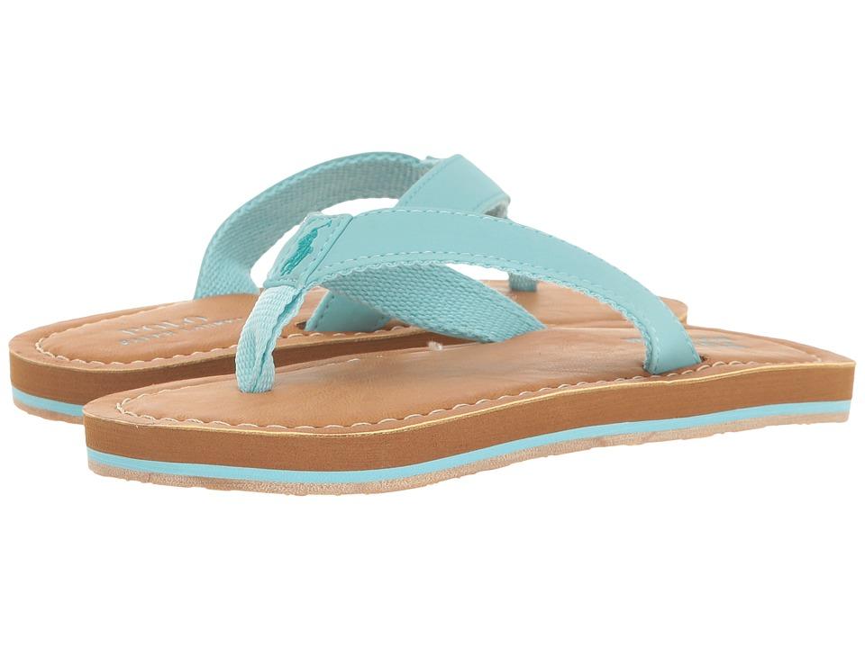 Polo Ralph Lauren Kids Lia (Little Kid) (Turquoise Sportbuck) Girl's Shoes