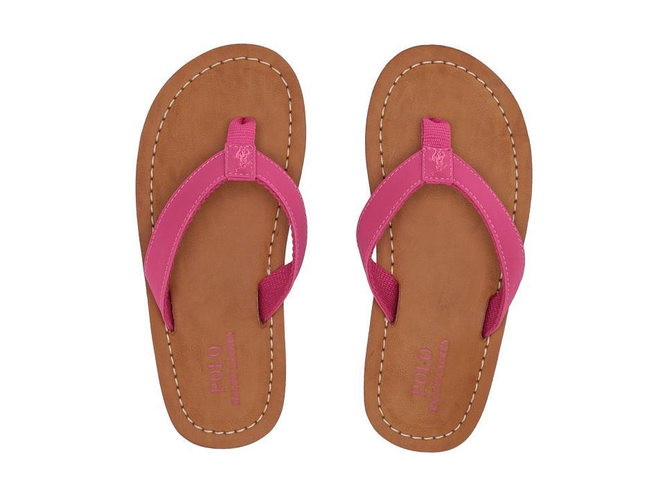 Polo Ralph Lauren Kids Lia (Little Kid) (Fuchsia Sportbuck) Girl\u0027s Shoes