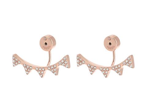 Fossil Spike Ear Jackets Earrings - Rose Gold