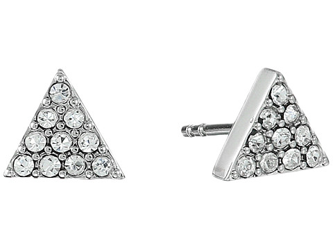 Fossil Triangle Ear Jackets Earrings - Silver