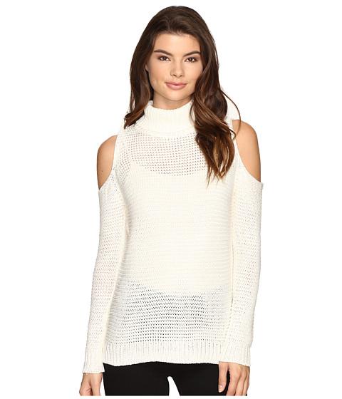 Brigitte Bailey Caressa Ribbed Cold Shoulder Sweater